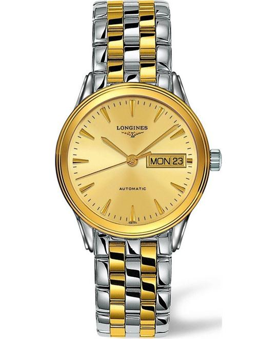 LONGINES Flagship L4.799.3.32.7 Champagne Automatic Watch 36mm