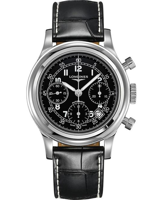 Longines Heritage L2.745.4.53.4 Chronograph Watch 44mm
