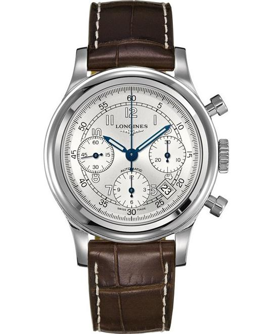 Longines Heritage L2.745.4.73.2 Chronograph Watch 41mm