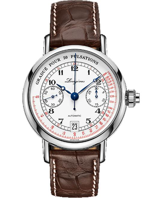 Longines Heritage L2.801.4.23.2 Chronograph Watch 40mm