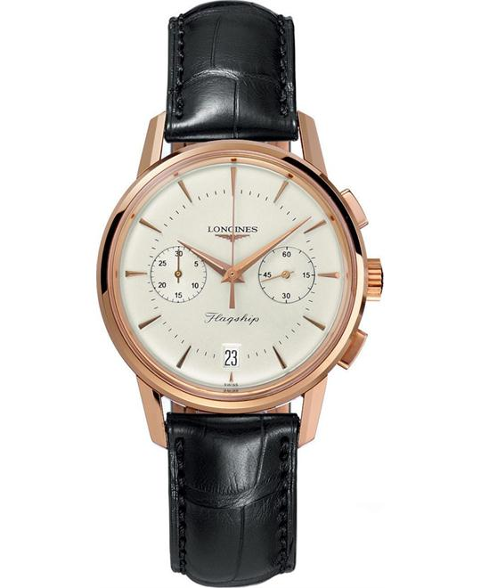 Longines L4.756.8.72.2 Heritage Collection Flagship Watch 38mm