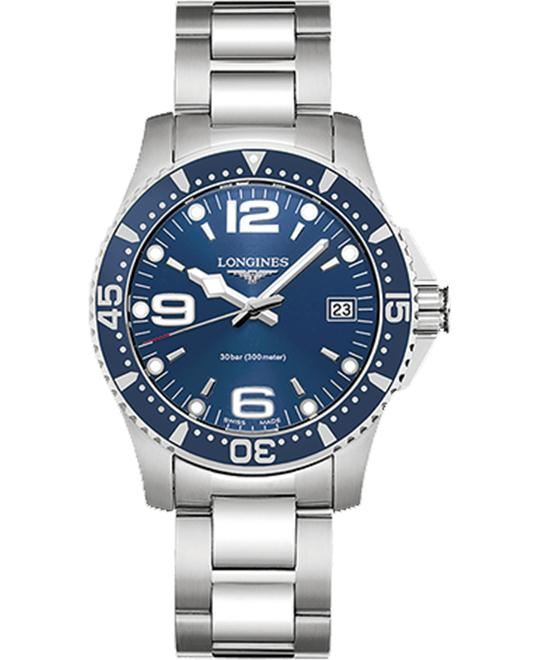 Longines HydroConquest L3.340.4.96.6 Quartz Watch 34mm