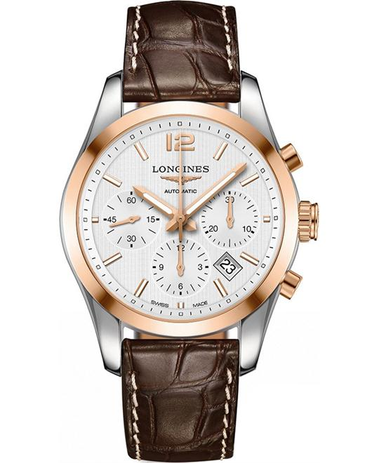 Longines L2.786.5.76.3 Conquest Watch 41mm