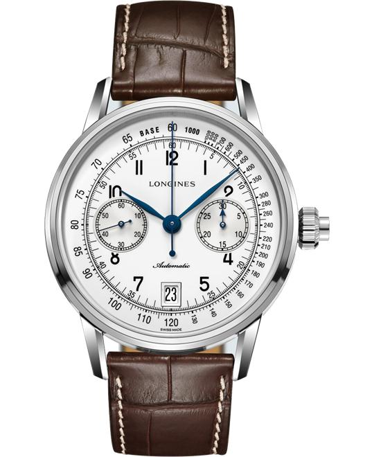 LONGINES L2.800.4.23.2 Heritage Chrono Auto Watch 41mm