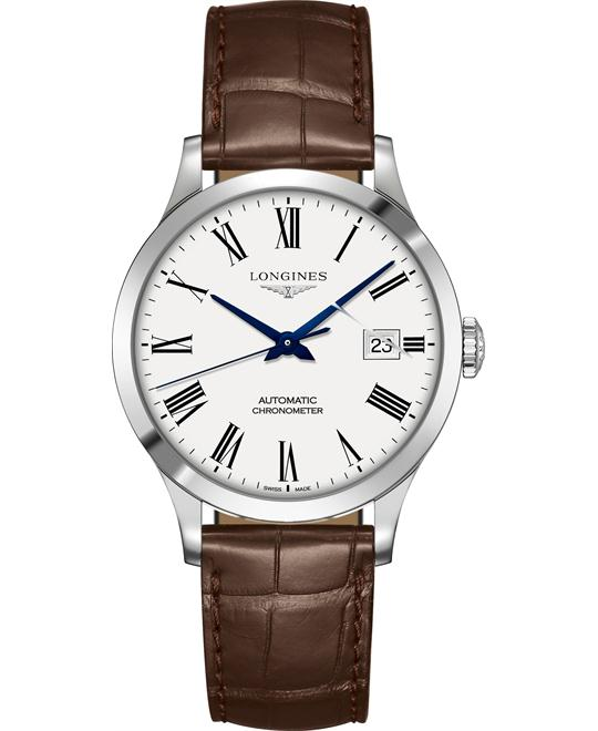 Longines L2.820.4.11.2 Record Watch 38.5mm