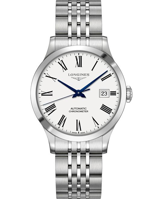 Longines L2.820.4.11.6 Record Watch 38.5mm