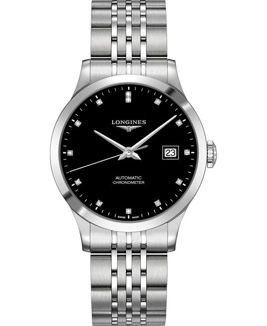 Longines L2.820.4.57.6 Record Watch 38.5mm