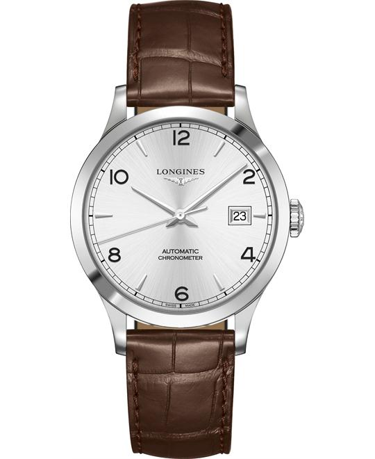 Longines L2.820.4.76.2 Record Watch 38.5mm