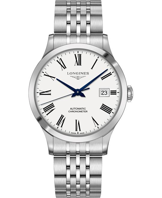 Longines L2.821.4.11.6 Record Watch 40mm