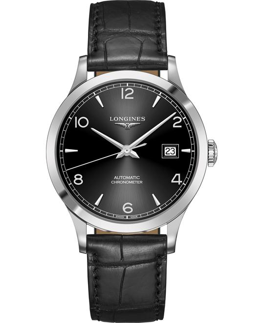 Longines L2.821.4.56.2 Record Watch 40mm