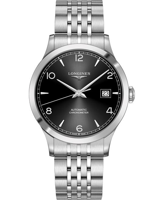 Longines L2.821.4.56.6 Record Watch 40mm