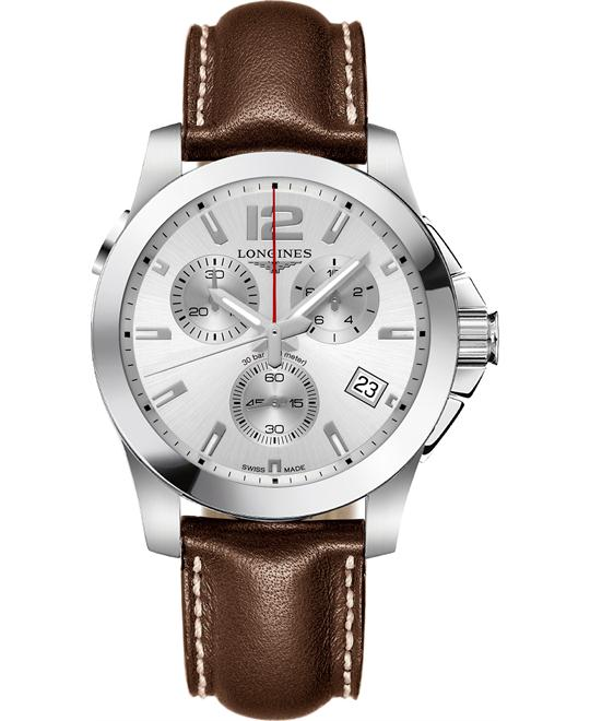 Longines L3.702.4.76.5 Conquest Watch 41mm