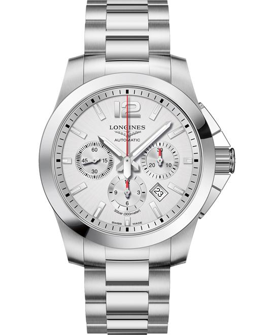 Longines L3.801.4.76.6 Conquest Watch 44mm
