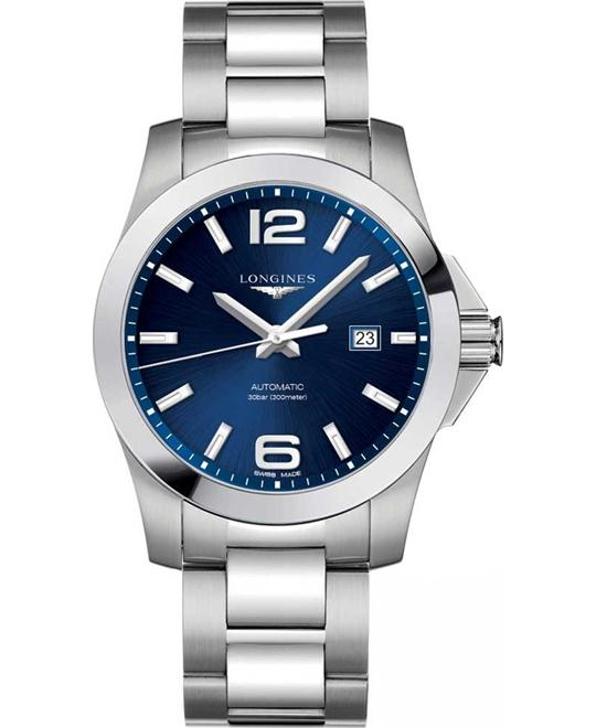 LONGINES L3.778.4.96.6 Conquest Automatic Watch 43mm