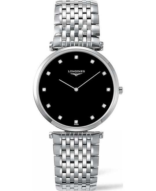 LONGINES La Grande L4.755.4.58.6 Diamond Watch 36mm