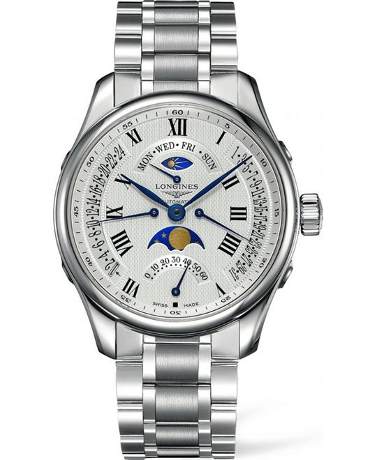 LONGINES MASTER L2.739.4.71.6 AUTOMATIC MOON PHASE 44MM
