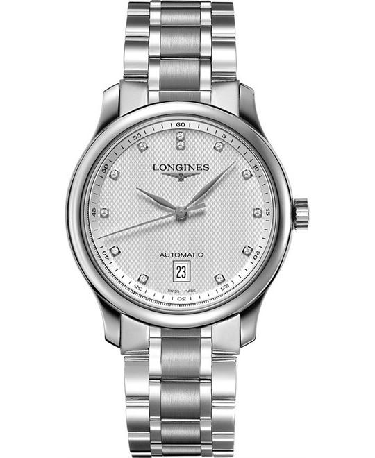 Longines Master L26284776 Automatic Diamond Watch 38.5mm