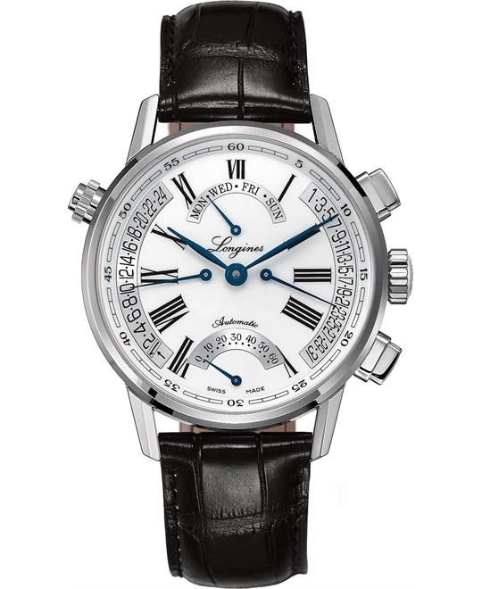 Longines Heritage L47974712 Retrograde Automatic Watch 41mm