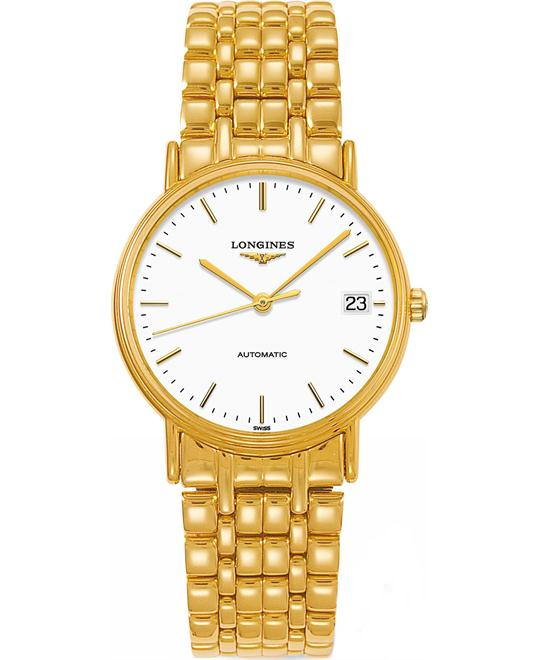 Longines L4.821.2.12.8 Présence Automatic Watch 34mm