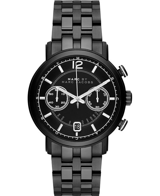 Marc Jacobs Fergus Black Ion-Plated Watch 42mm