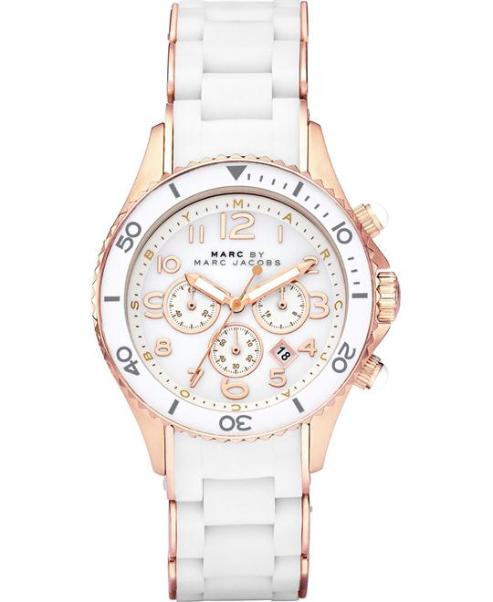 Marc Jacobs ROCK White Silicone Watch, 40mm