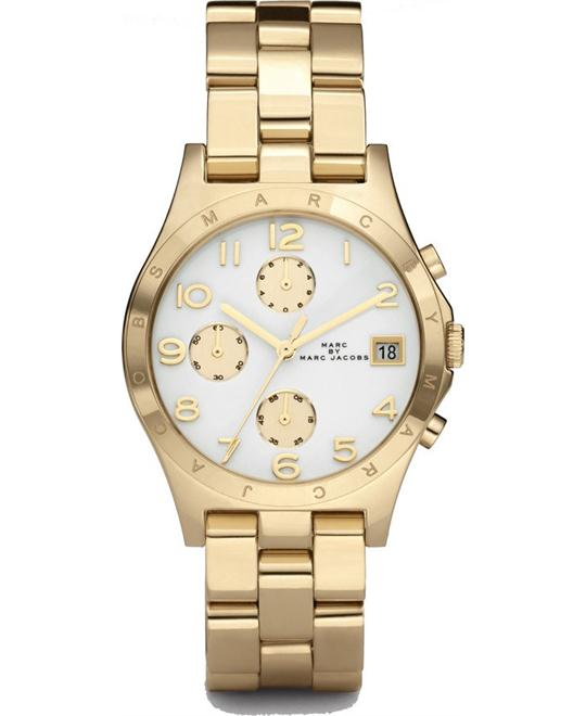 Marc by Marc JacobsHenry Gold White Dial Watch 37mm