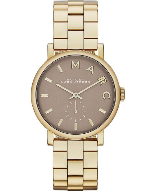 Marc by Marc Jacobs Baker Gold Tone Grey Dial Watch 36mm