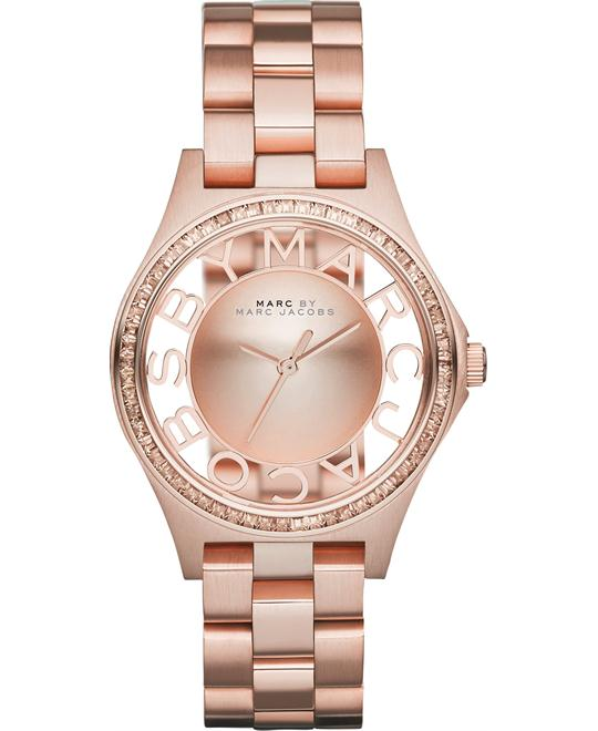 Marc Jacobs Henry Skeleton Rose Gold Watch 34mm