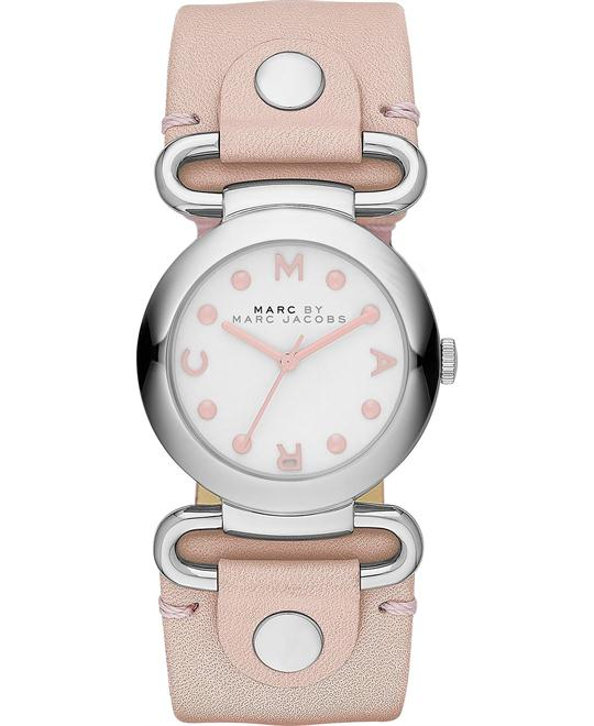 Marc by Marc Jacobs Molly Pink Leather Strap Watch 30mm