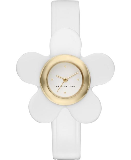 Marc Jacobs Daisy Gold-Tone and White Watch 20mm