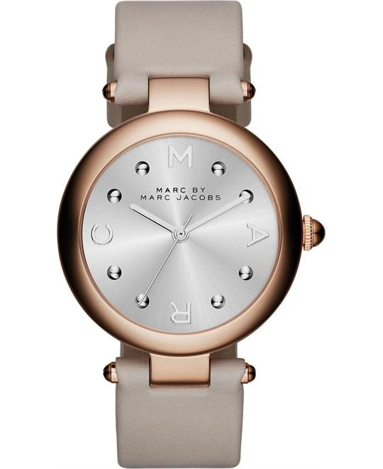Marc Jacobs Dotty Grary Leather Ladies Watch 34mm