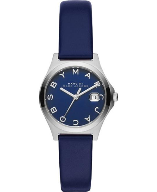 Marc Jacobs The Slim Blue Leather Watch 30mm