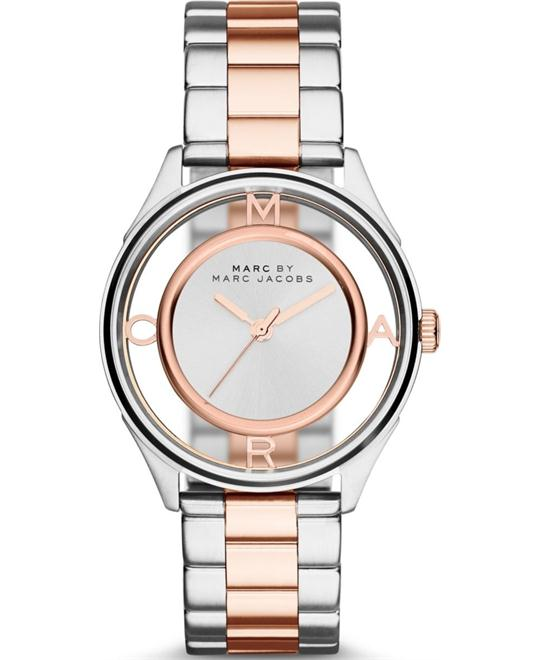 Marc Jacobs TETHER Women's Silver-Tone Watch 36mm