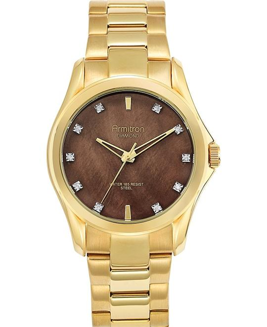 Men's Brown Diamond Gold Watch, 41mm