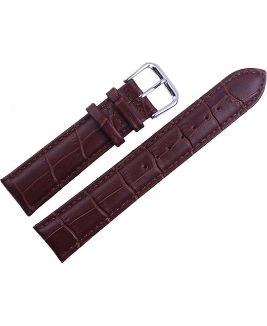 Men's Genuine Leather Croco Grain Brown Watch Band 22mm
