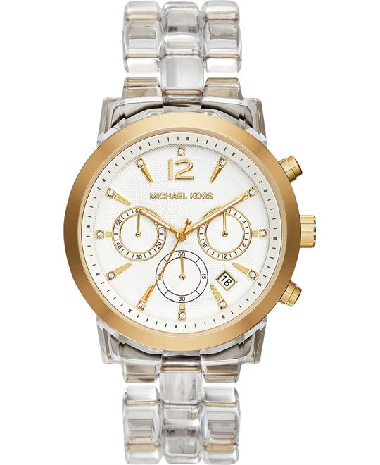 Michael Kors Audrina Chronograph Clear Watch 42mm