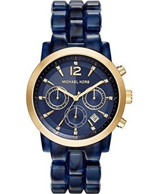 Michael Kors Audrina Gold Navy Blue Watch 42mm