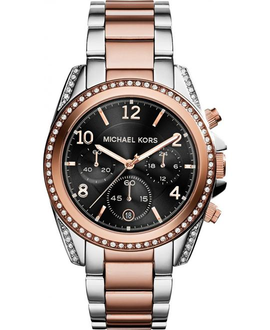 Michael Kors Blair  Black Dial Two-tone Unisex Watch 39mm