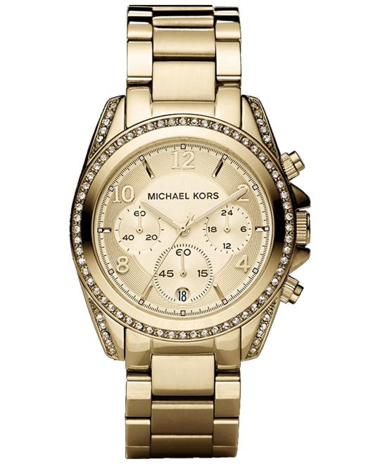 Michael Kors Blair Gold Glitz Unisex Watch 39mm