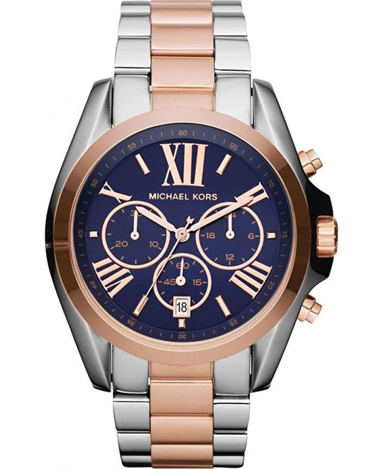 MICHAEL KORS Bradshaw Rose Navy Men's Watch 43mm