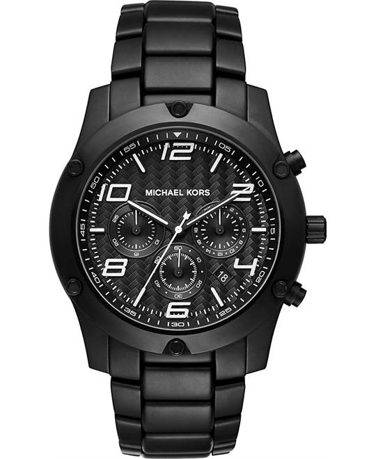 MICHAEL KORS Caine Chronograph Black IP Watch 45mm
