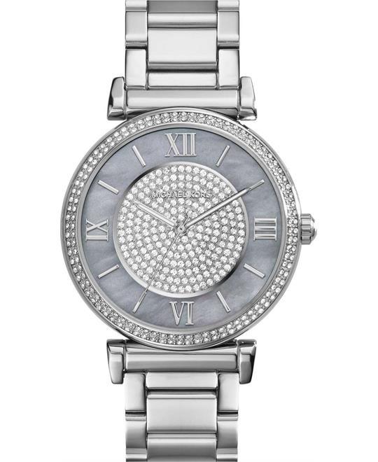 Michael Kors Catlin Crystal Pearl Women's Watch 38mm