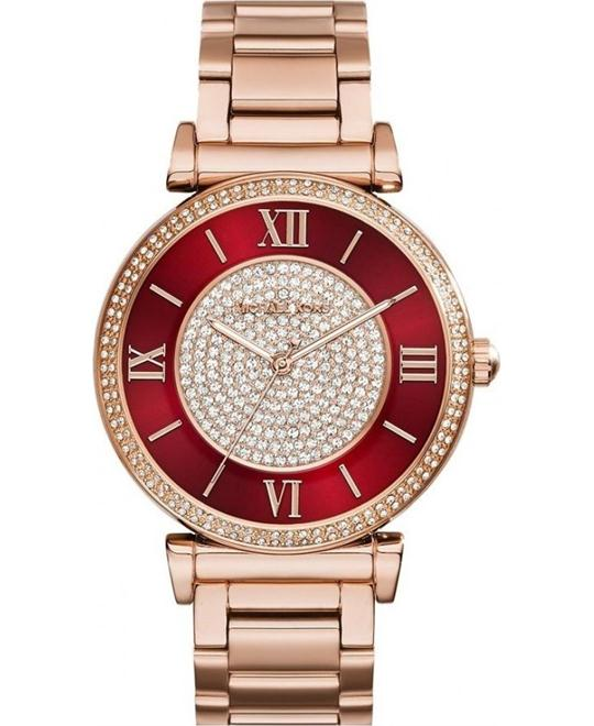 MICHAEL KORS Catlin Red Crystal Women's Watch 38mm