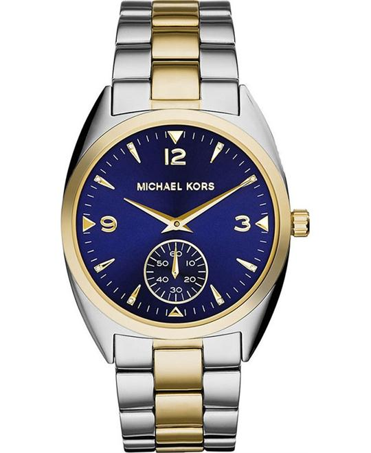 Michael Kors Callie Blue Dial Two-tone Unisex Watch 39mm