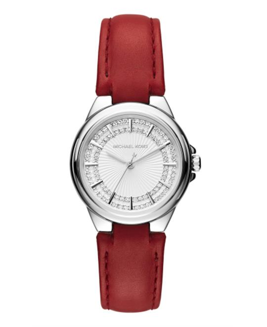 Michael Kors Camille Red Leather Quartz Watch 33mm