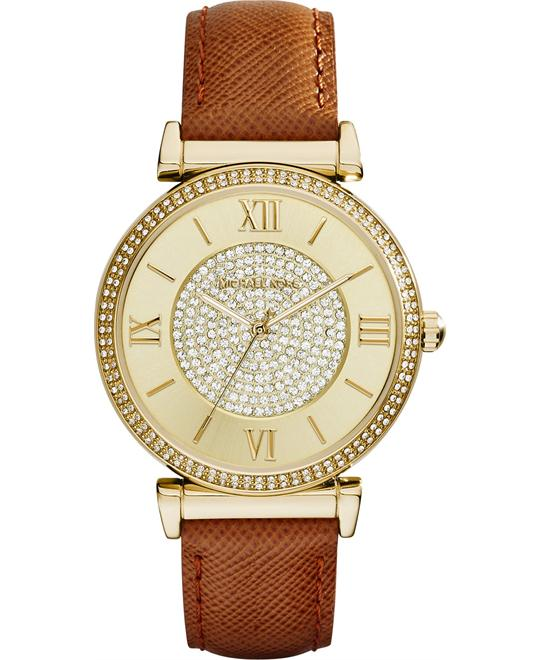 Michael Kors Catlin Champagne Ladies Watch 38mm