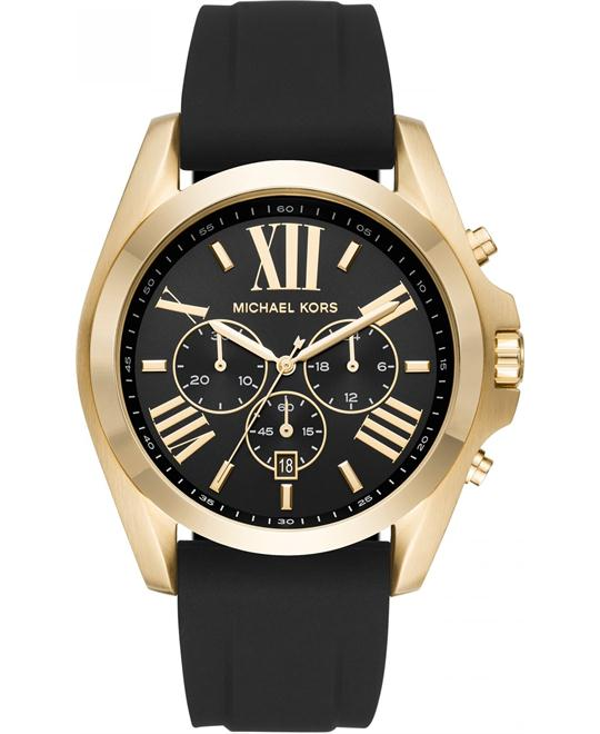 Michael Kors Chronograph Bradshaw Silicone Watch 47mm