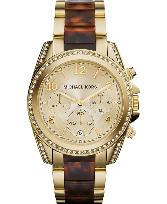 Michael Kors Blair Tortoise and Gold Unisex Watch 39mm