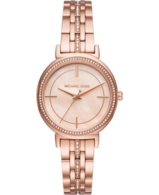 MICHAEL KORS Cinthia Rose Gold-Tone Watch 33mm