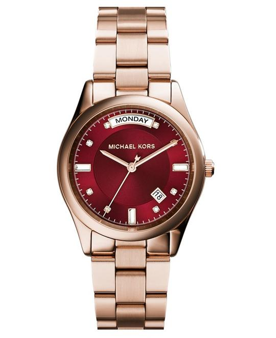 Michael Kors Colette Rose Gold Red Women's Watch 34mm